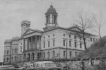 black and white photo of courthouse