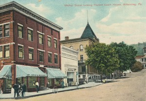 Kittanning Postcard - Looking East on Market St from Mckean Street